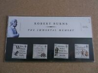 G.B. 1996 Robert Burnes on Royal Mail First Day Cover,