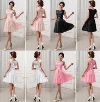 Elegant Evening Formal Party Lace Chiffon Cocktail Maxi Bridesmaid Prom Dress UA