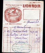 """MONTROUGE (92) USINE PRODUITS d'ENTRETIEN CIRAGE """"LION NOIR"""" 1924"""