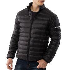 Alpine Swiss Men's Down Jacket Puffer Coat Packable & Light Black 1XL