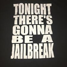 Vintage Thin Lizzy Tonight There's Gonna Be A Jailbreak T Shirt 2002 Xl Black