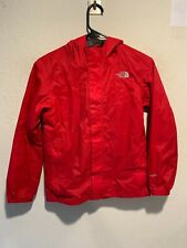 The North Face Hyvent Boy's Rain Jacket Size Medium Red Lined (See Photos)