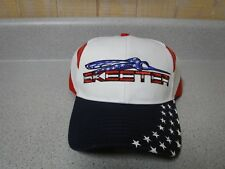 New Authentic Skeeter  Eat Sleep Fish   USA   Hat    Red White & Blue