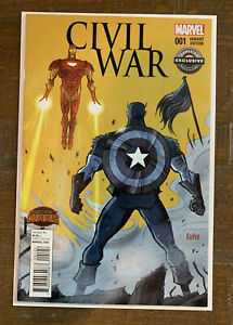 Marvel Comics Civil War Variant Edition Game Stop Exclusive ( Secret Wars )