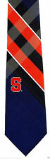 Syracuse Orange 'Cuse Mens Necktie College University Plaid Logo Gift Tie New