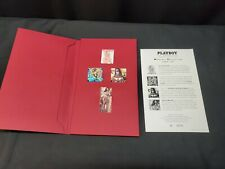 1997 Playboy Collectors Pin Collection in Folder, Includes 4 Pins From June