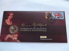 Florence Nightingale 100th  Anniversary  First Day £2 Coin Cover     {REDUCED}