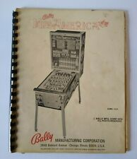 Bally Miss America Deluxe Pinball Bingo Machine Service Instructions Manual 1979