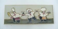 Framed Joy Aldridge Painting Of Three Chefs