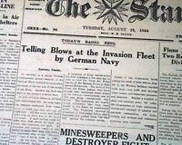 Rare GERMANS Germany OCCUPATION Island of Guernsey 1942 World War II Newspaper