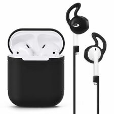 Apple Airpods Soft Silicone Case+Anti-Lost Strap+Earhooks Cover4Iphone 7/7P/8/8P