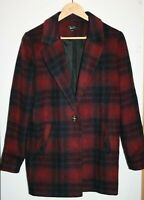 New Look 915 Generation Girls Red Multi Checked Winter Coat Jacket 14-15 Years