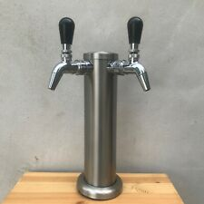 Intertap Double Steel Tap Faucet Kegland Stainless Tower Kegerator Beer
