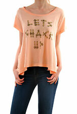Wildfox Women's Let's Shack Up T-shirt rose taille S à manches courtes RRP £ 41 BCF55