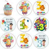 Geburtstag 3 Birthday Eßbar Tortenaufleger Party Deko Tortenbild Muffin Pirat