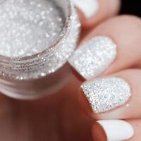 Laser Poudre Holographique Glitter Paillette Argent Pigment Ongles Nail Art Déco