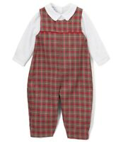 Boys PETIT POMME Ami Christmas outfit 3 6 12 18 24 months NWT plaid romper red