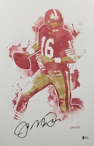 Joe Montana Signed San Francisco 49ers 11x17 Art Print *SB MVP *HOF BAS E07152