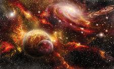 368x254cm Papier Peint Mural Mur Chambre Salon Stars Cosmos Planètes