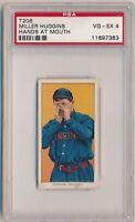 MILLER HUGGINS 1909-11 T206 Piedmont 350 Tobacco Hands at Mouth PSA 4 REDS HOF