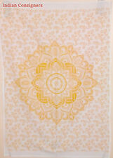Yellow Ombre Ethnic Throw Poster Wall Hanging Tapestry Thin Hippie Mandala Hipy