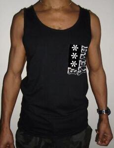 Mens Black F*** Yeah Muscle Vest Gym Top T Shirt Festival Summer XS - XL
