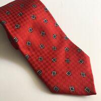 Robert Talbott Red Men's Silk Tie Hand Sewn