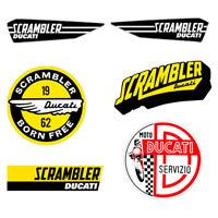 Adesivi Ducati Scrambler sticker vintage Decal auto moto print pvc 6 pz.