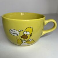The Simpson's Extra Large Hot Chocolate Ceramic Mug Cup Bowl 2000 Homer Yellow