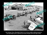 OLD POSTCARD SIZE PHOTO OF SAN ANTONIO TEXAS US AIR FORCE RANDOLPH FIELD 1940