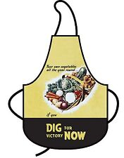Robert Opie Retro Cotton Apron - Dig for Victory (Vegetables)