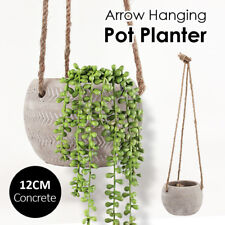 12CM Arrow Hanging Concrete Pot Planter Plant Flower Holder Home Garden Decor