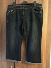 Ladies George Cropped 3/4 Length Jeans Size 16 Excellent Condition