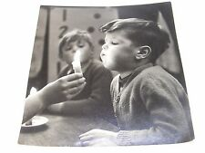 VINTAGE ART PHOTOGRAPH PETER WAUGH CHILD BOY BLOWING A CANDLE C 1960's