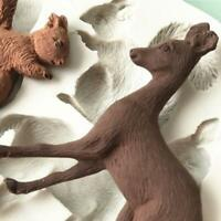 Kitchen Paste Cake Chocolate Decoration 3D Lovely Animal Silicone Mould Q