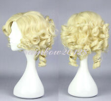 Blonde Cinderella's Fairy Godmother Curly Wavy Short Anime Cosplay Wig