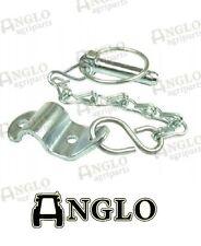 Massey Ferguson TE20 35 135 175 178 Tractor Lynch pin Chain + Bracket assembly