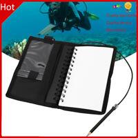 Diving Underwater Notebook Writing Pad Equipment with Pencil Waterproof