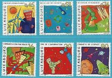 Luxemburg aus 1999/2001 ** postfrisch MiNr.1481-1483, 1550-1551 - Cartoons I+II