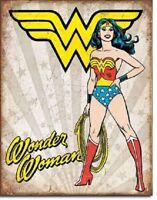 Wonder Woman Tin Sign Metal Poster retro vtg superhero wall art decor DS#2085