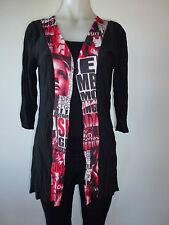 womens jacket cardi black long sleeve jacket  size 10 12 14 16 18 20 NEW
