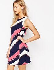 Oasis Diagonal Stripe Shift Dress UK SIZE 12