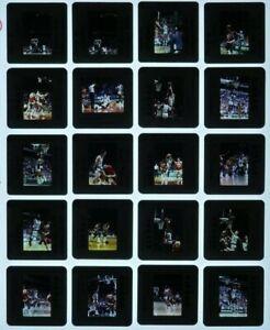 JTM3-7 1989 NBA Milwaukee Bucks Atlanta Hawks Wilkins LOT (75) ORIG 35mm Slides
