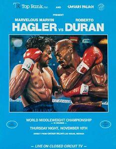 MARVIN HAGLER vs ROBERTO DURAN 8X10 PHOTO BOXING POSTER PICTURE CAESARS PALACE