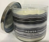 BATH & BODY WORKS POWER ONYX 3-WICK SCENTED LARGE 14.5 OZ FRAGRANCE CANDLE