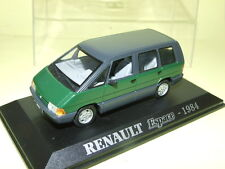 RENAULT ESPACE I 1 1984 UNIVERSAL HOBBIES 1/43 GREEN M6 COLLECTIONS VERDE PHASE