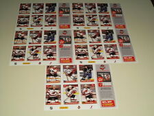 2012-13 Panini NHL Hockey Stickers with 6 Stickers Lot of 5 Sheets
