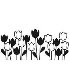 Darice Embossing Folder Spring Tulips Garden Flower Border 1218-44 A2