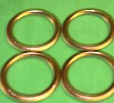 Kawasaki ZN1100 ZX1100 GPz 1100 ZG1200 Voyager COPPER Exhaust Gaskets (set of 4)