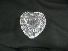Dish Heart shape lead glass covered